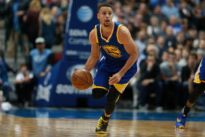 Dallas, TX - March 18, 2016 - American Airlines Center: Stephen Curry (30) of the Golden State Warriors during a regular season game (Photo by Allen Kee / ESPN Images)