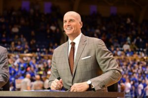 Durham, NC - March 5, 2016 - Cameron Indoor Stadium: Jay Bilas during a regular season game (Photo by Phil Ellsworth / ESPN Images)