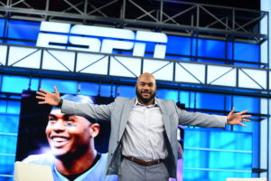 Bristol, CT - January 8, 2016 - Studio W: Steve Smith Sr. on the set of NFL Live (Photo by Joe Faraoni / ESPN Images)
