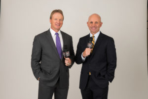 Bristol, CT - May 17, 2016 - Photo Studio: Portrait of Jon Gruden and Sean McDonough (Photo by Joe Faraoni/ ESPN Images)