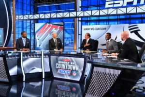 Bristol, CT - October 2, 2016 - Studio W: Charles Woodson, Matt Hasselbeck, Chris Berman, Randy Moss and Trent Dilfer on the set of Sunday NFL Countdown (Photo by Joe Faraoni / ESPN Images)