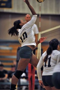 M'Kaliah Redden had 11 kills for SCC on Friday night.