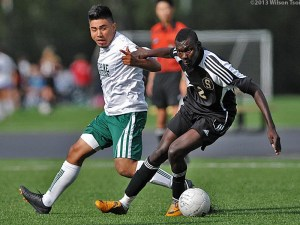 Jibril Freeman scored for SCC on Saturday against Skagit Valley.