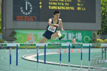 Men's Senior 400m Hurdles Champion CHAN Ka Chun