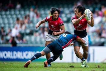 2015 Asia Rugby Sevens Qualifier Day 2 - Men's Pool Games at Hong Kong Stadium on 8 Nov. 2015