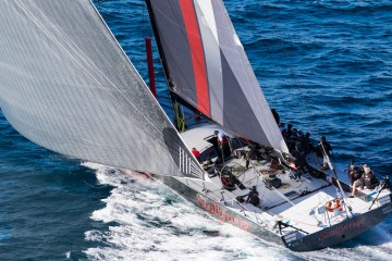 The 100ft supermaxi Scallywag taking part in the Gold Coast Race in 2016.