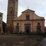 The piazza with San Donato church