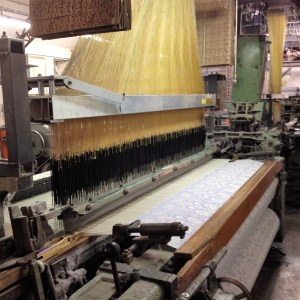 Weaving the fabric
