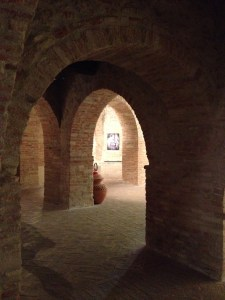 Insdie the cistern - now an art gallery