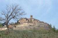 View of Anghiari from our walk