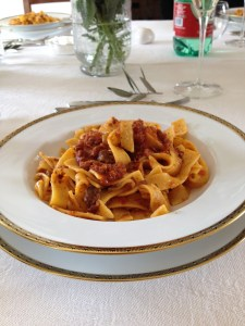 Pasta with cinghiale