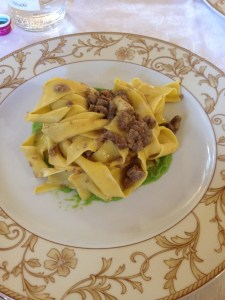 Papperdelle with cinghiale ragu