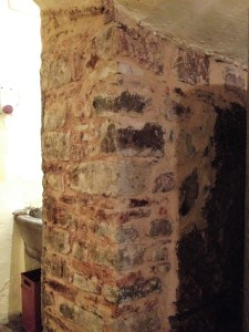 Etruscan wall in the cantina