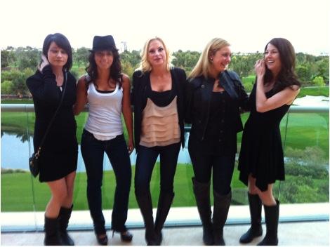 Chelsea Gossett with friends