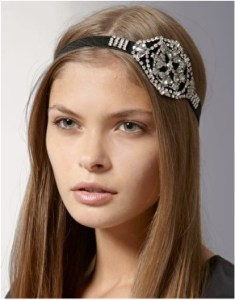 Juicy Couture Black and Crystal Rhinestone Head Band