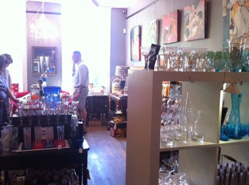 Second floor devoted to 6-12 piece cocktail sets and barware
