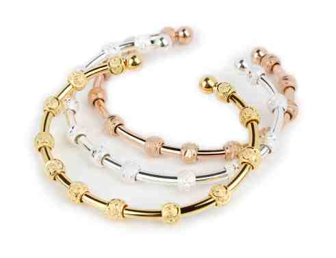 "Count Me Healthy ""Sexy Stack"" in gold, rose and silver by Chelsea Charles"