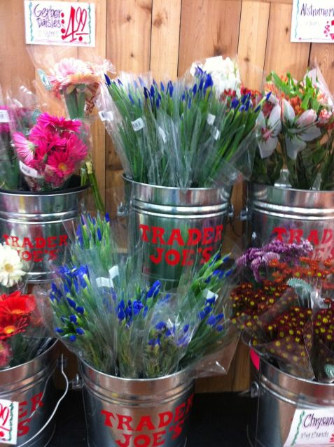 Flowers are a must at Trader Joes