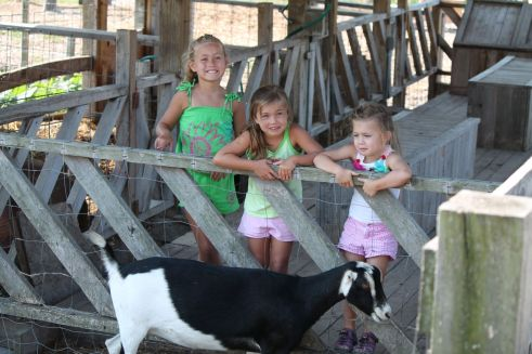 My girls at Pond Hill Farms in Michigan where we buy our fresh grass fed meat