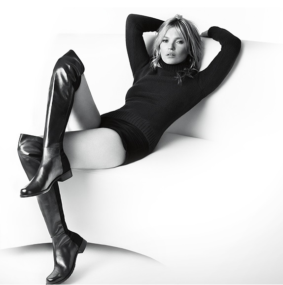 The 50/50 boot by Stuart Weitzman has become a classic as has this campaign with Kate Moss. The boots just seem comfortable, sexy and casual. Who could not be excited if they found these under the tree?
