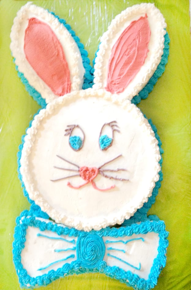 Easy Bunny Cake!! Use 2 8 inch round cakes to make this super simple ...