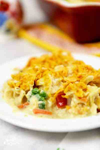 Chicken Noodle Soup Casserole with Veggies