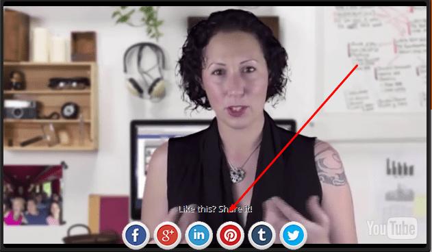 Create Social Media Sharing Inside YouTube Video