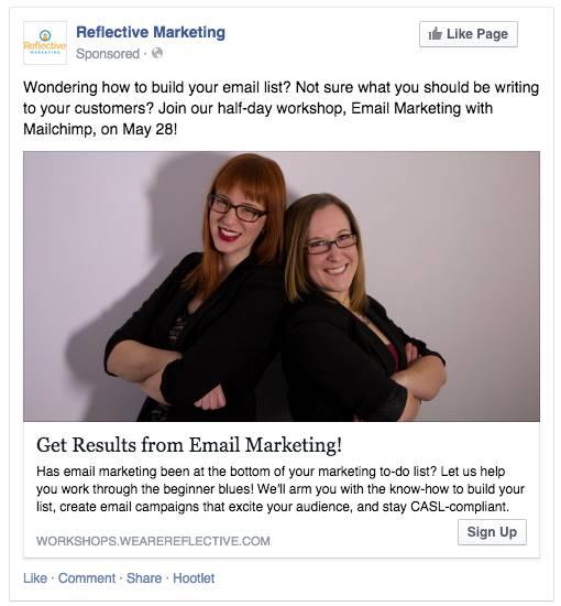 Facebook Signup Ad