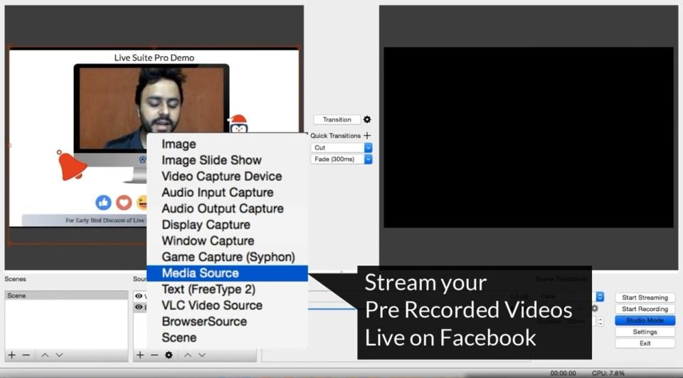 Run Stream Pre Recorded Video as Live