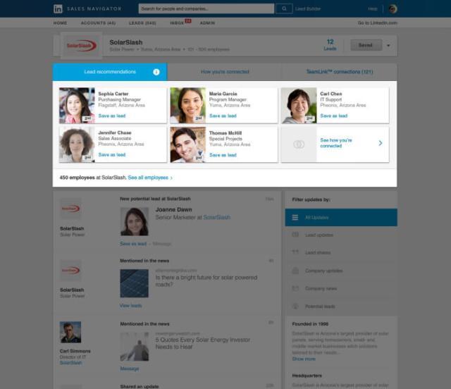 LinkedIn Sales Navigator Lead Prospector