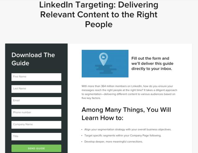 LinkedIn Targeting Guide LP