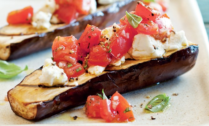 grilled-eggplant-tomatoes-goat-cheese-spry