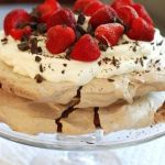 Triple Chocolate Pavlova with Strawberries