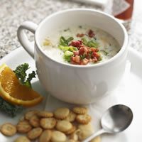 180-Calorie New England Clam Chowder that Warms the Soul