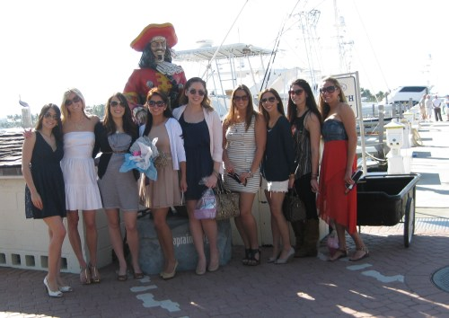 All the girls... and Captain Morgan.