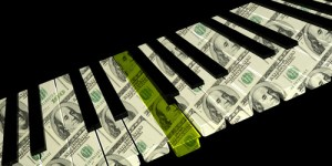 piano keyboard money bills