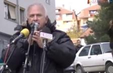 Протест у КМ поводом хапшења Славољуба Јовића Пагија (видео)