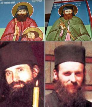Осликани на фрескама, отац Харитон и отац Стефан