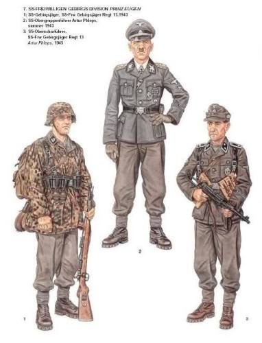 SS uniforme ilustracija