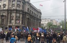 """Више десетина хиљада грађана и учесника """"Протеста против диктатуре"""""""