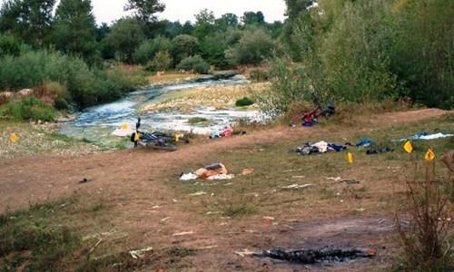 Место где су убијена и рањена српска деца на Бистрици