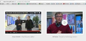 Satya Nadella's videos hosted on YouTube