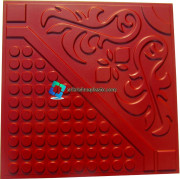 Flower with Round dots Floor tile Rubber mould