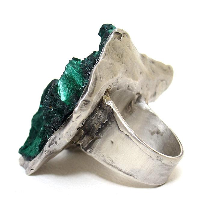 susan ritter fibrous malachite ring