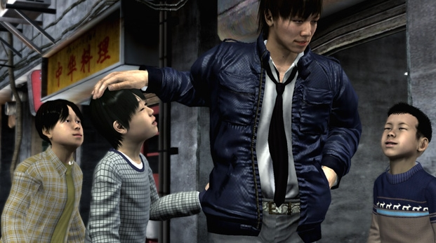 Tanimura with some kids.