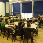 Senior Band rehearsals take place in the main hall