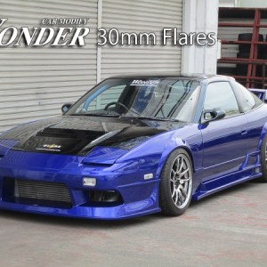 Car Modify Wonder 240sx s13 Fender Flares Type 1