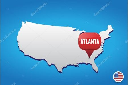 atlanta mapa usa images