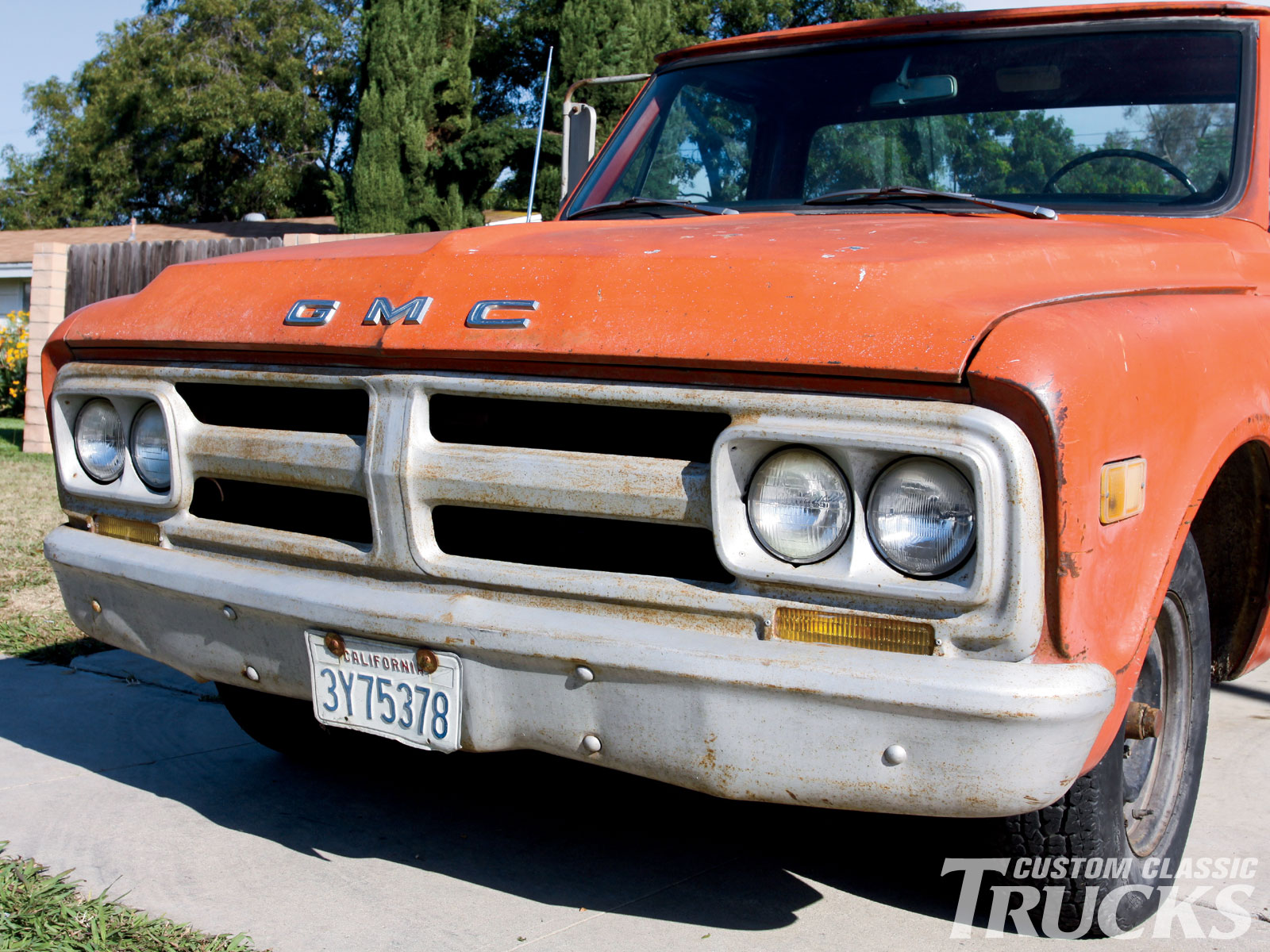 1967 1968 GMC Grille   Bumper Upgrades   Hot Rod Network 1102cct 03 O 1967 1968 Gmc Grille Bumper Upgrade Old Grille