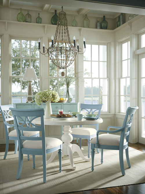 tropical dining room Ideas for lighting a rustic cottage
